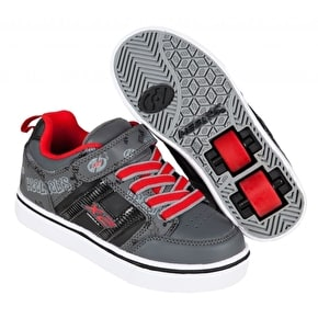 Heelys X2 Bolt Light Up - Black/Grey/Red