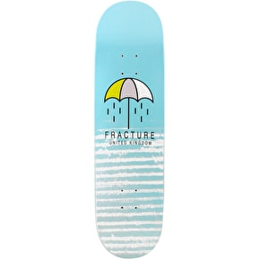 Fracture Brolly Skateboard Deck - Blue 8.25