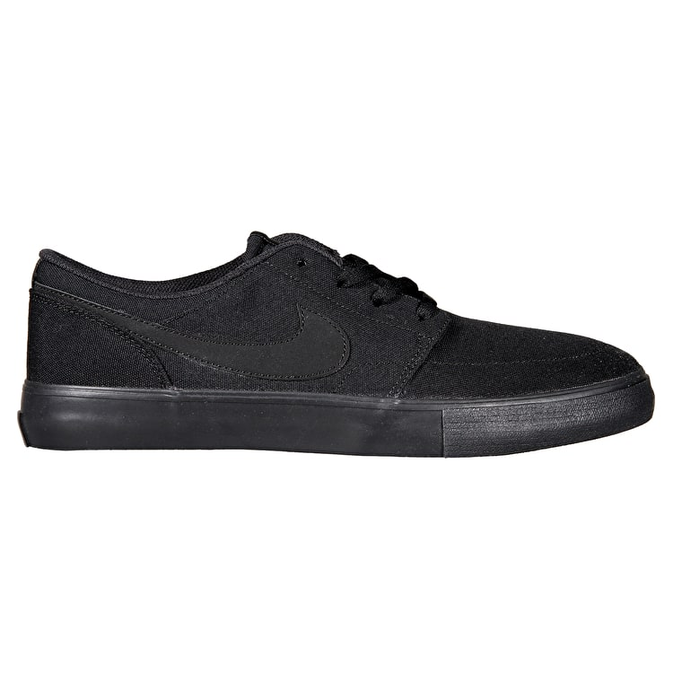 Nike SB Portmore II Skate Shoes - Black/Black