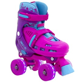 SFR Lightning Hurricane Light Up Quad Roller Skates - Pink