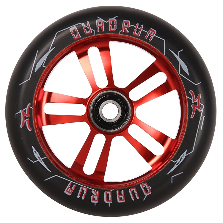 AO Quadrum 10-Star Scooter Wheel 110mm - Red