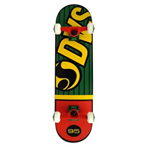 DVS Pinstripe Complete Skateboard - Green/Yellow/Red 8