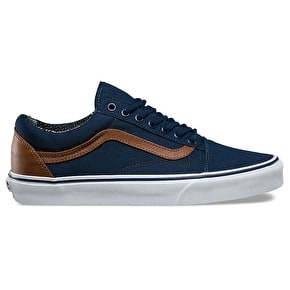 Vans Old Skool Skate Shoes - (C&L) Dress Blues/Material Mix