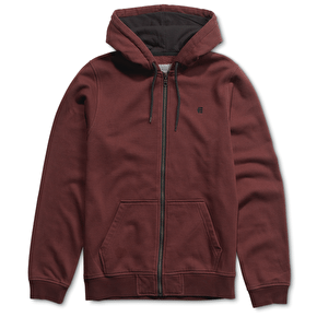 Etnies E Full Zip Hoodies - Maroon