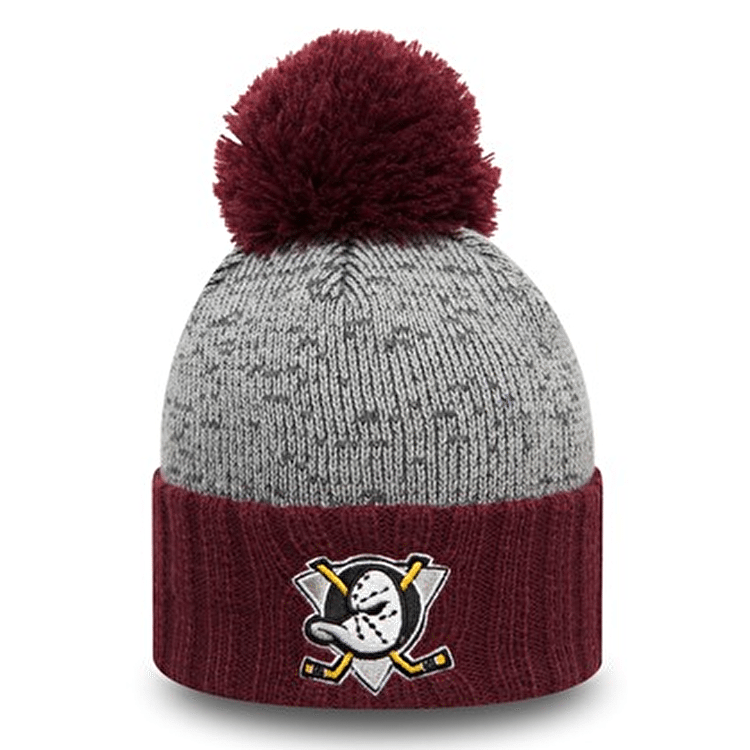 New Era Bobble Cuff Beanie - Anaheim Ducks