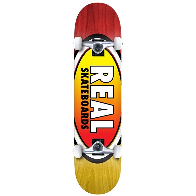 Real Oval Two Fades Complete Skateboard - 8""