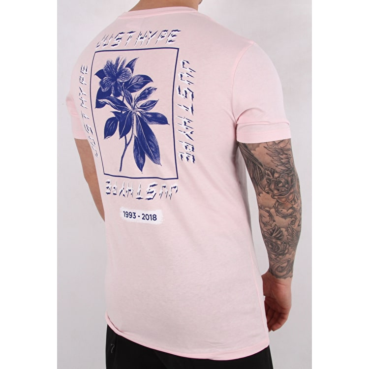 Hype Framed Floral T-Shirt - Pink/Blue