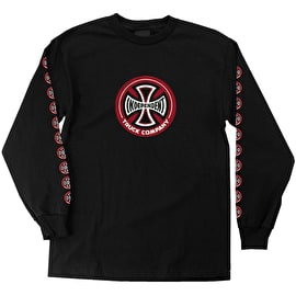 Independent Hollow Cross Long Sleeve T Shirt - Black