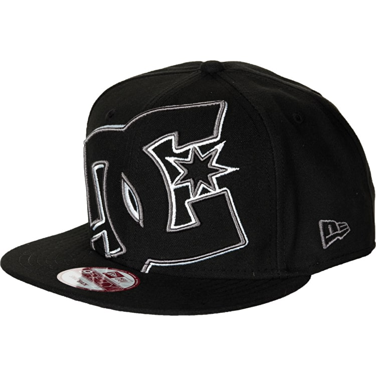 DC Double Up Snapback Cap - Black