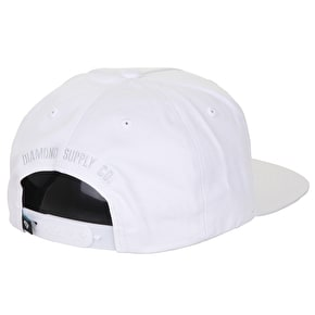 Diamond Brilliant Snapback Cap - White