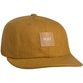 Huf Wool Box Logo 6 Panel Cap - Honey Mustard
