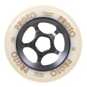 Proto 110mm Gripper Wheel - White on Grey