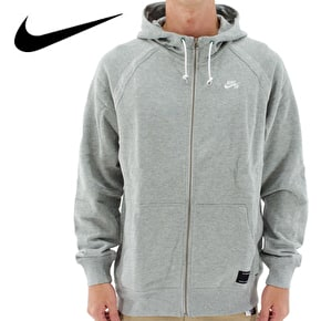 Nike SB Northrup Icon Zip Hoodie - Dark Grey Heather/Ivory