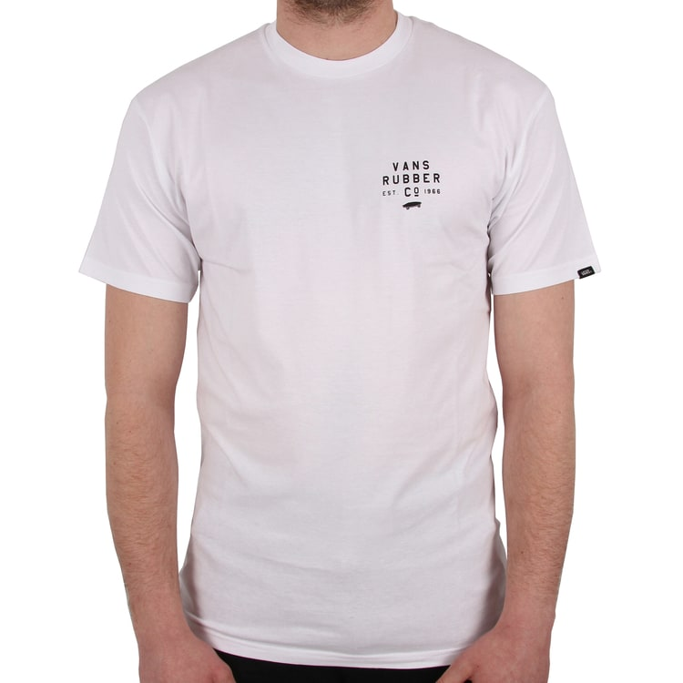 Vans Stacked Rubber T shirt - White
