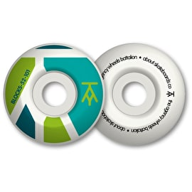 The Agency Blocks 101a Skateboard Wheels - Aqua Lime Petrol 52mm (Pack of 4)