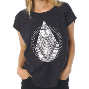Volcom Stay Cosmic Womens T-Shirt - Black