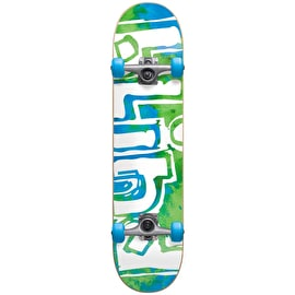 Blind OG Water Colour First Push Complete Skateboard - Green/Blue 7.875