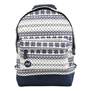 Mi-Pac Mini Fairisle Backpack - Navy/White