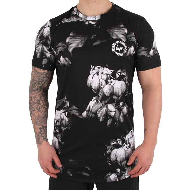 Hype Fall Mist T shirt - Black/White
