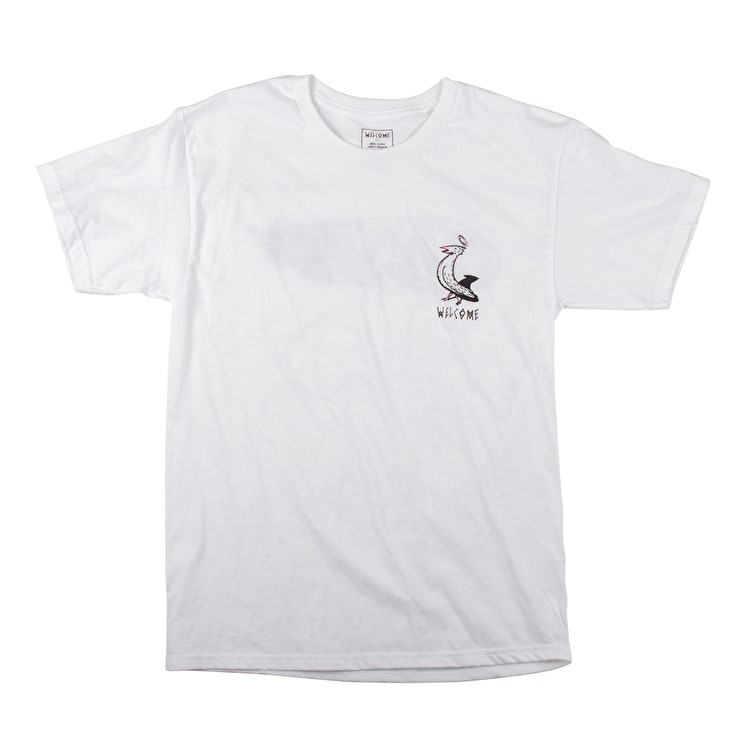 Welcome Sleeping Cat T-Shirt - White