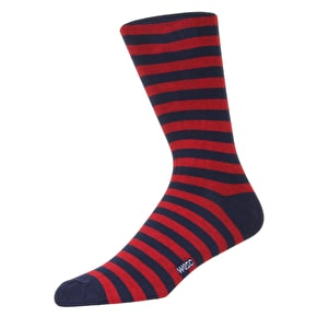 WeSC Striped Socks - Rosewood - 3 Pack - Large