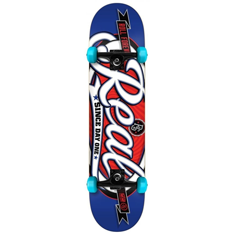 Real Oval Custom Complete Skateboard - Blue 7.75""
