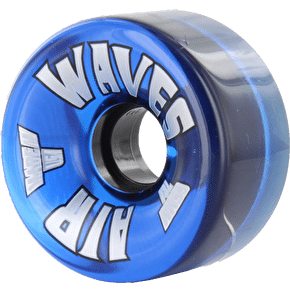 Air Waves 65mm Outdoor Quad Skate Wheels 78A- Clear Blue 8Pkâ??â??