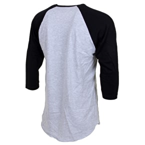 Diamond Blur Raglan T-Shirt - Heather Grey/Black