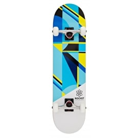 Rocket Eclipse Series Complete Skateboard - Blue/Yellow 7.75