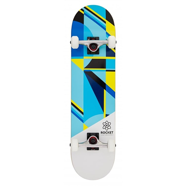 Rocket Eclipse Series Complete Skateboard - Blue/Yellow 7.75""