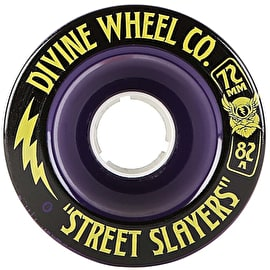 Divine Street Slayers 72mm 82A Longboard Wheels - Purple
