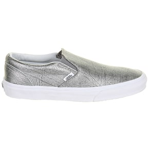 Vans Classic Slip-On Shoes - (Foil Metallic) Silver