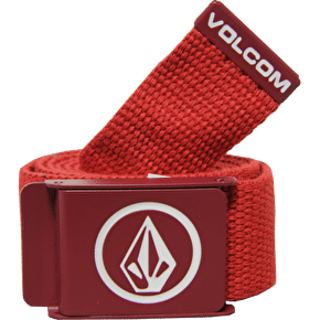 Volcom Circle Web Belt Drip Red