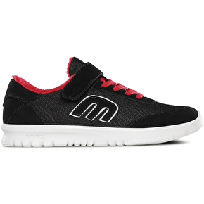 Etnies Lo-Cut SC Kids Shoes - Black/Red/White