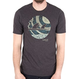 Hurley Finset T-Shirt - Black Heather