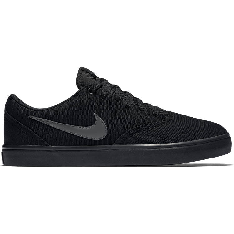 Nike SB Check Solar Canvas Skate Shoes - Black/Anthracite