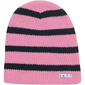 Neff Daily Stripe Beanie - Pink/Black