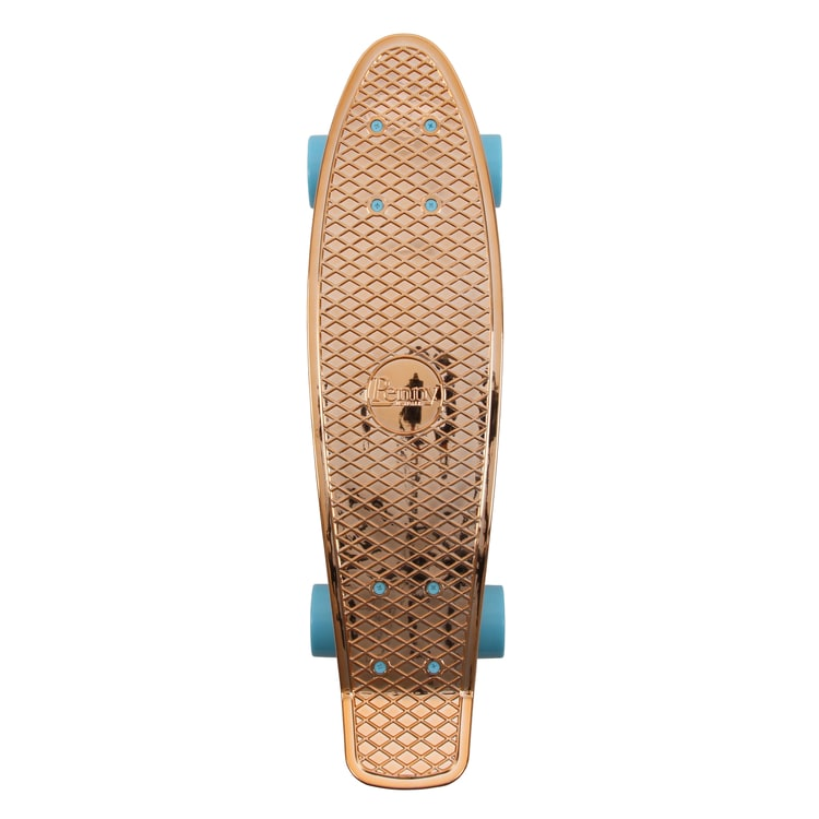 "Penny Metallic Solid Complete Cruiser Skateboard 22"" - Rose Gold"
