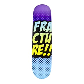Fracture Skateboard Deck - Comic VT Purple/Blue 7.75