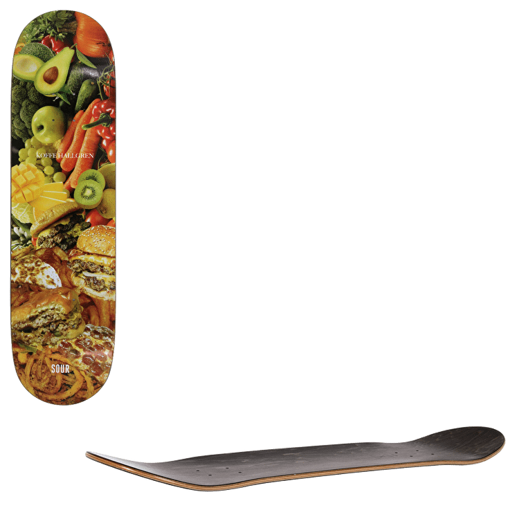 Sour Healthy Grease Hallgren Skateboard Deck 8.375""
