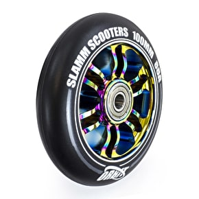 Slamm Orbit 100mm Scooter Wheel - Neochrome