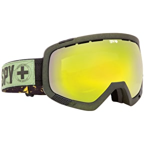 Spy Platoon Goggles - Beach Party Destroyers/Yellow Green Spectra + Bronze