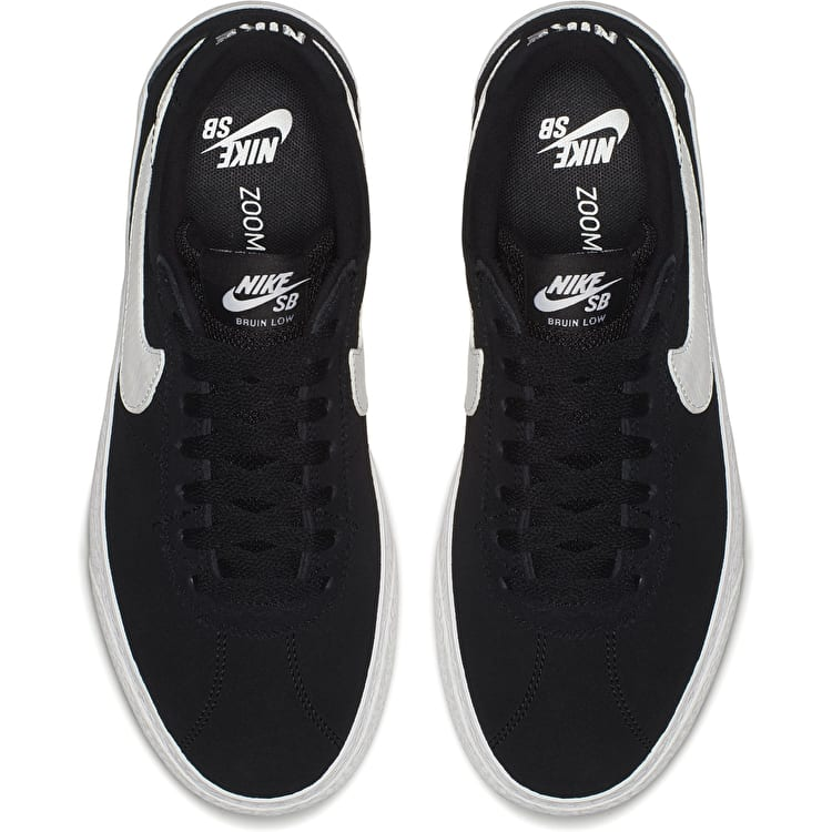 Nike SB Bruin Low Womens Skate Shoes - Black/White-White