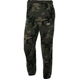 Nike SB Icon Camo Fleece Pants - Medium Olive/Black