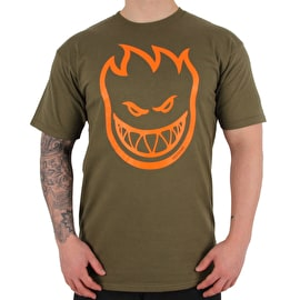 Spitfire Covert Bighead T-Shirt - Military Green/Orange
