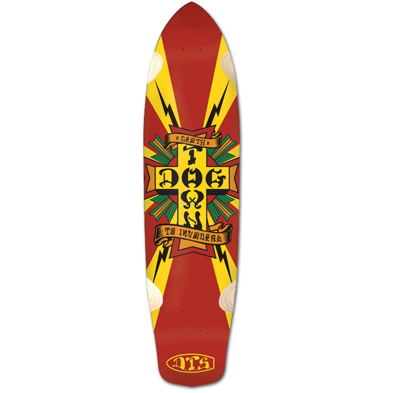 Image of Dogtown Death To Invaders Longboard Deck - 9""