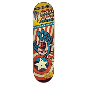 Santa Cruz x Marvel Skateboard Deck - Captain America Hand 8.26