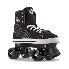B-Stock Rio Roller Quad Skates - Canvas Black - UK 3 (Box Damage)