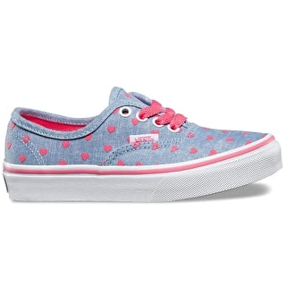 Vans Authentic Kids Shoes - (Chambray Hearts) Blue/True White