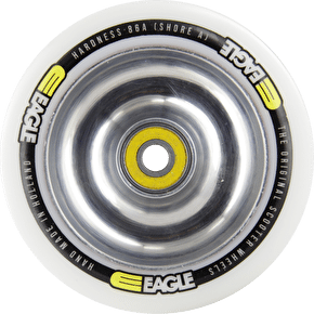 Eagle Polished Full Metal Core White PU Wheel - 100mm